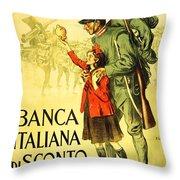 Banca Italiana Di Sconto, 1917 Throw Pillow