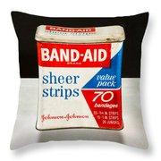 Band-aid Box Throw Pillow