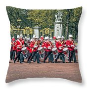 Band Of The Guard Throw Pillow
