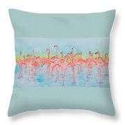 Band On The Run Throw Pillow