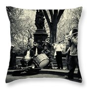 Band On Union Square New York City Throw Pillow by Sabine Jacobs