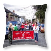 Band Practice In The Bywater Throw Pillow