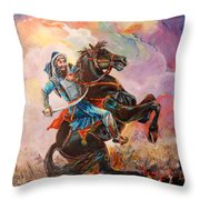 Banda Singh Bahadur Throw Pillow