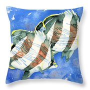 Banded Butterflyfish Throw Pillow