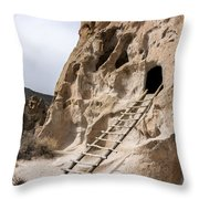 Bandelier Caveate - Bandelier National Monument New Mexico Throw Pillow