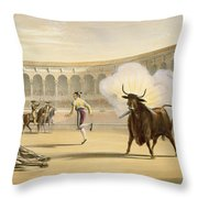 Banderillas De Fuego, 1865 Throw Pillow