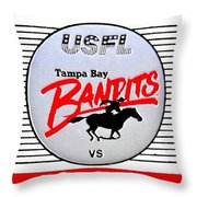 Bandit Ball Throw Pillow by Benjamin Yeager