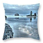 Bandon Beach Scatter Throw Pillow