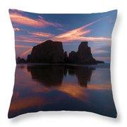 Bandon Beach Skies Throw Pillow