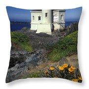 Bandon Lighthouse Throw Pillow