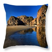 Bandon Low Tide Reflections Throw Pillow