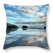 Bandon Rock Garden Throw Pillow