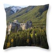 Banff Fairmont Springs Hotel Throw Pillow