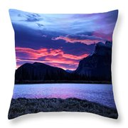 Banff Sunrise  Throw Pillow