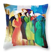 Bangalore Rain Throw Pillow
