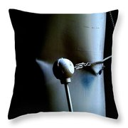 Banging Heads Throw Pillow