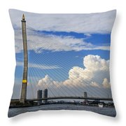 Bangkok - Rama Viii Bridge Throw Pillow