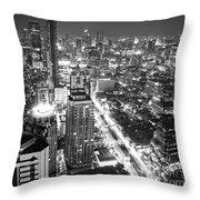Bangkok Skyline 1 - Thailand Throw Pillow