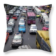 Bangkok Street View  Throw Pillow