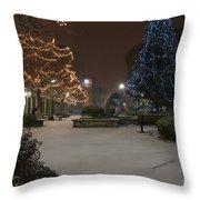 Bangor Maine Christmas Throw Pillow
