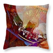 Banjo And Friend Digital Banjo And Guitar Art By Steven Langston Throw Pillow