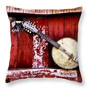 Banjo Mandolin - American Music Throw Pillow