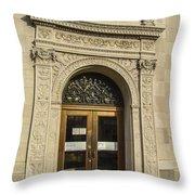 Bank Door Throw Pillow