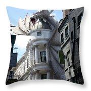 Bank Guard Throw Pillow