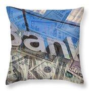 Bank Throw Pillow