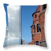 Bank Of America Plaza Dallas Throw Pillow