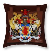 Bank Of Bermuda Coat Of Arms Throw Pillow