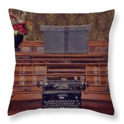 Bank - Secretary Throw Pillow by Liane Wright
