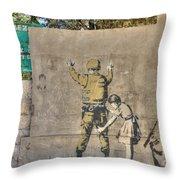 Banksy In Bethlehem 2 Throw Pillow