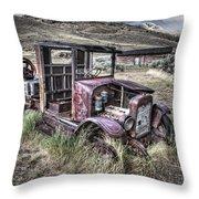 Bannack Ghost Town Truck - Montana Throw Pillow