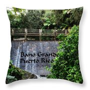 Bano Gande Throw Pillow