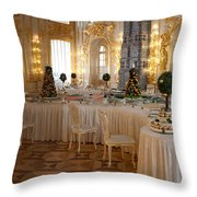 Banquet Room Summer Palace St Petersburg Russia Throw Pillow