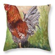 Bantam Cockerel Throw Pillow