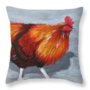 Bantam Rooster 2 Throw Pillow