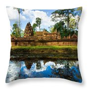 Banteay Srei - Angkor Wat - Cambodia Throw Pillow