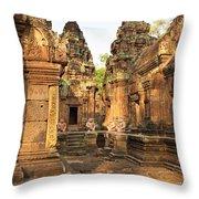 Banteay Srei, Cambodia Throw Pillow