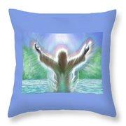 Baptism Of Yshuah Throw Pillow