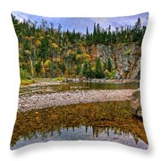 Baptism River Reflection Throw Pillow
