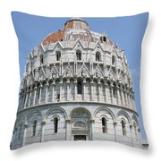 Baptistery Pisa Throw Pillow