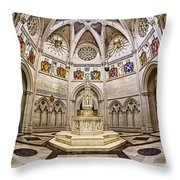 Baptistry At Saint John The Divine Cathedral Throw Pillow