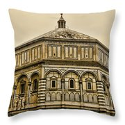 Baptistry - Florence Italy Throw Pillow
