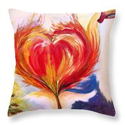 Baptize Me With Holy Fire Throw Pillow