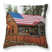 Bar And Grill In South Lake Tahoe Throw Pillow