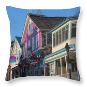 Bar Harbor Downtown  Throw Pillow