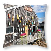 Bar Harbor Restaurant Throw Pillow