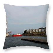 Bar Harbor Scene  Maine Throw Pillow